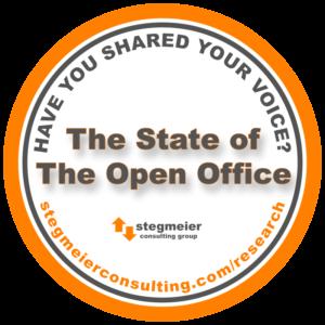 open office floor plan workplace study